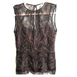 ANTHROPOLOGIE NANETTE LAPORE Lined Lace Blouse